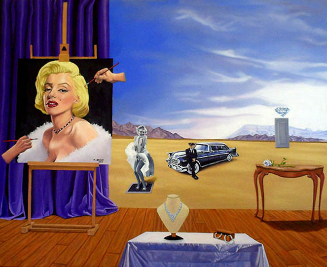 Painting marilym Monroe Surreal Art