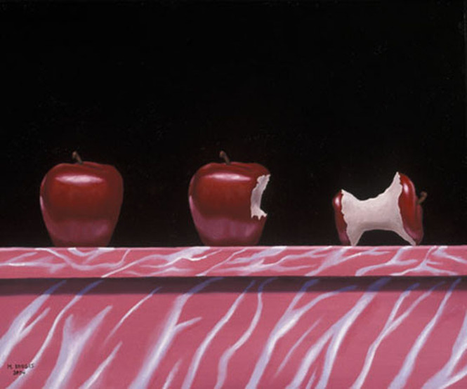 Metamorphosis Of An Apple Surreal Art